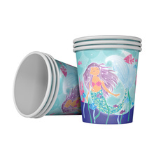 6pcs Mermaid theme Paper cup party decoration easter wedding baby shower happy birthday cups Party supplies hot
