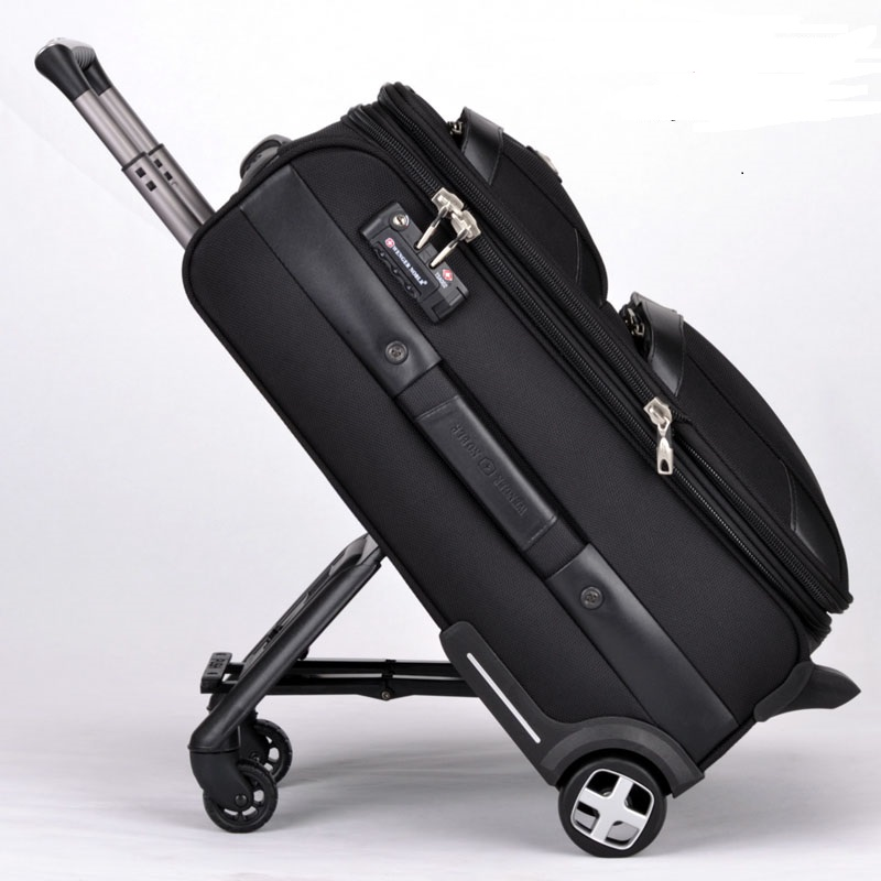 Business Rolling Luggage Spinner Travel Bag 20 Inch Men Women Carry Ons Trolley 24 Trunk