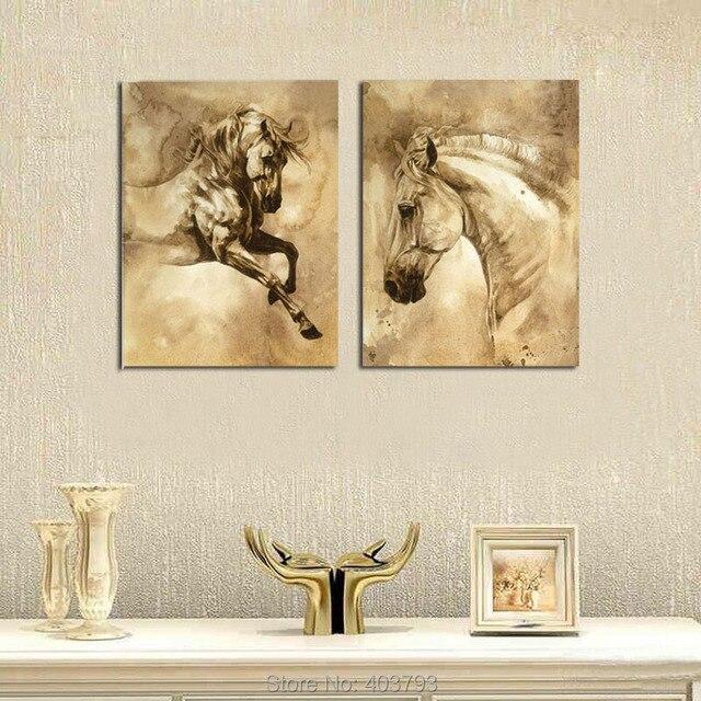 Wandkunst leinwand pferd dekorative bilder fohlen poster for Dekorative bilder wohnzimmer