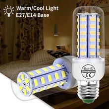 цена на E27 LED Bulb Corn Lamp 220V Candle Light Bulb E14 Led Ampoule 5730 SMD 3W 5W 7W 9W 12W 15W 20W Chandelier Lampada Led For Home
