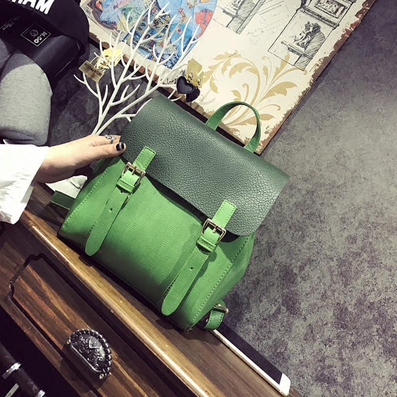 Prix pour Leftside mode d couleur vintage sac à dos en cuir pu femmes sac à dos cartable sac à dos féminin pour fille petit sac d'école