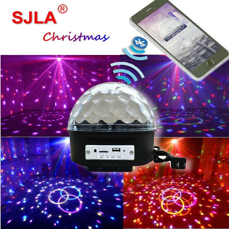 Christmas Phone Bluetooth Dj Led Magic Ball Disco Light Remote Ktv Sound Moving Head Dmx SJLA Laser Stage Lighting Effect 9 moving head laser spider light green color 50mw 9 triangle spider moving head light laser dj light disco club event
