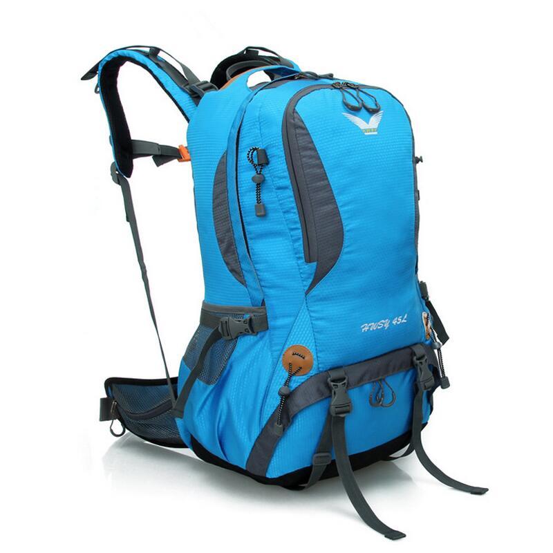 45L women men waterproof rucksack outdoor hiking camping backpack sport bag 420D nylon travel backpack