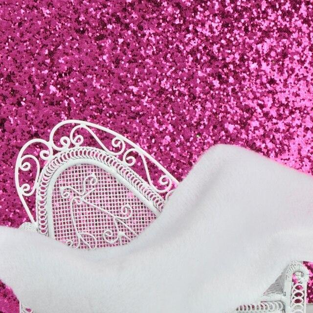 Derun Moins Cher Paillettes Papier Peint De Tissu Rose Papier Peint