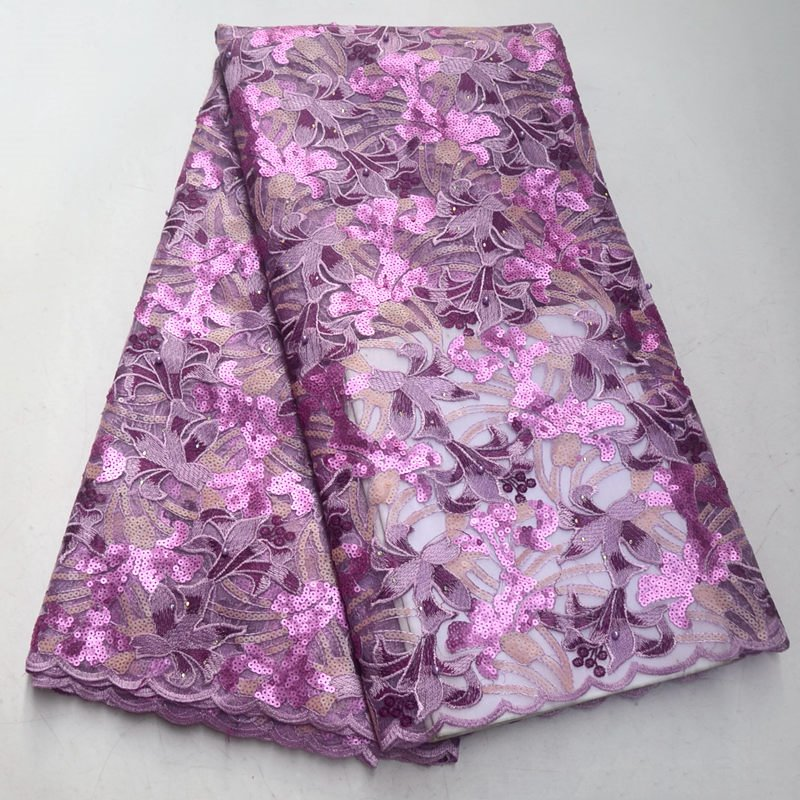 Popularne afryki koronki tkaniny/wysokiej jakości Nigeria siatki koronki/francuski tiul koronki tkaniny na modne sukienki AD712 w Koronka od Dom i ogród na  Grupa 1