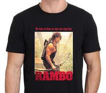 купить Tee Size S-2Xl  Sleeve Men Machine Personal T Rambo Sone, John Rambo With Bow по цене 801.77 рублей