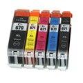 5X Compatible Inkjet Cartridge For Canon PGI-670 CLI-671 PIXMA MG5760/MG5765/MG5766 Printer Ink Cartridge