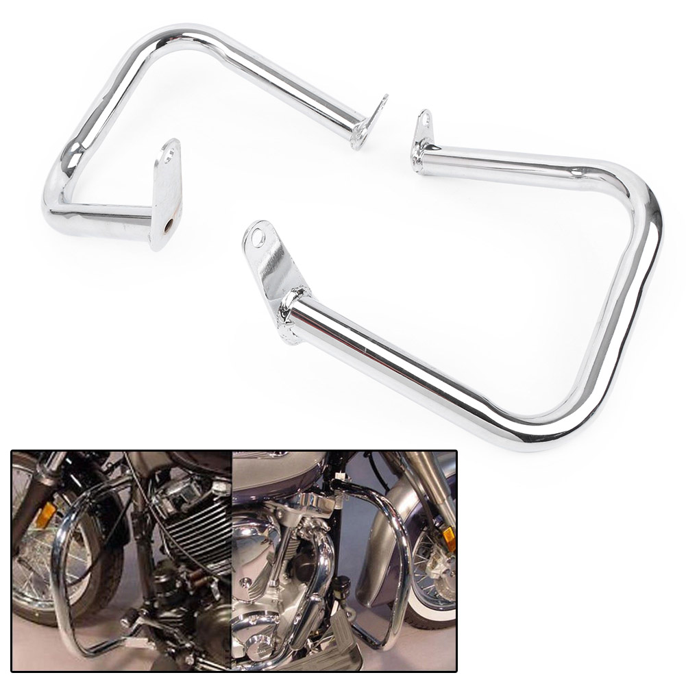 Chrome Engine Guard Highway Crash Bar For Yamaha Dragstar V-Star 400 650 Classic 1998-2016 & Dragstar VStar 400 650 Custom 97-06Chrome Engine Guard Highway Crash Bar For Yamaha Dragstar V-Star 400 650 Classic 1998-2016 & Dragstar VStar 400 650 Custom 97-06