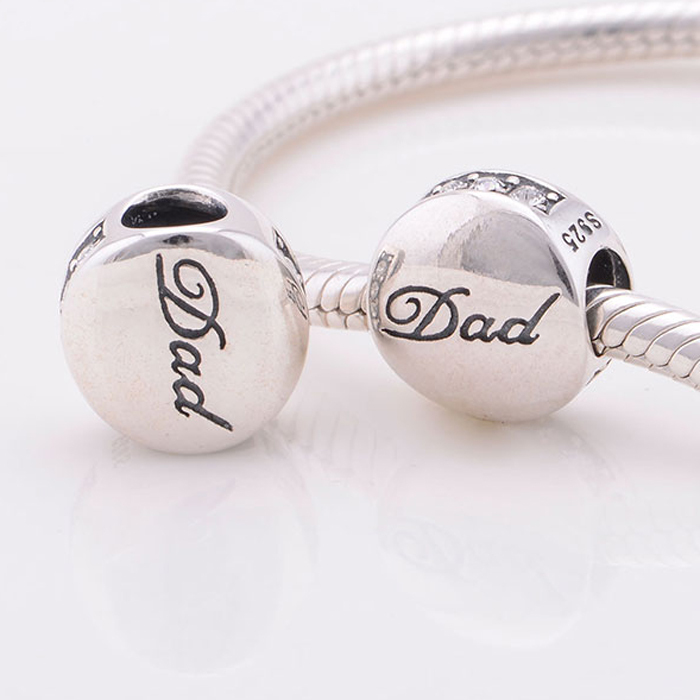 fits pandora charms bracelet 925 sterling silver beads love letter dad charm with cz diy bracelets necklaces pendants