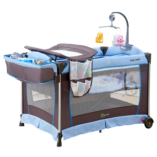 Captivating Coolbaby Crib Folding Multifunctional Game Bed Baby Portable Cradle Bed  Newborn With Mosquito Net