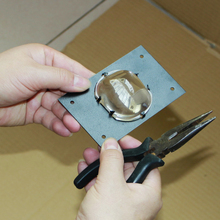 DIY LED projector square condenser lens with stand dedicated condenser lens square power LED lamp 62mm*52mm