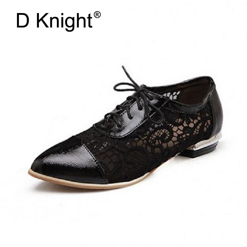 Big Size 34-47 Women Pointed Toe Lace Up Casual Flats Fashion Breathable Lace Oxfords For Women Ladies Casual Flat Oxford Shoes new 2018 fashion vintage neutra women flat lace up brogue oxford shoes for ladies casual flat shoes size 34 43