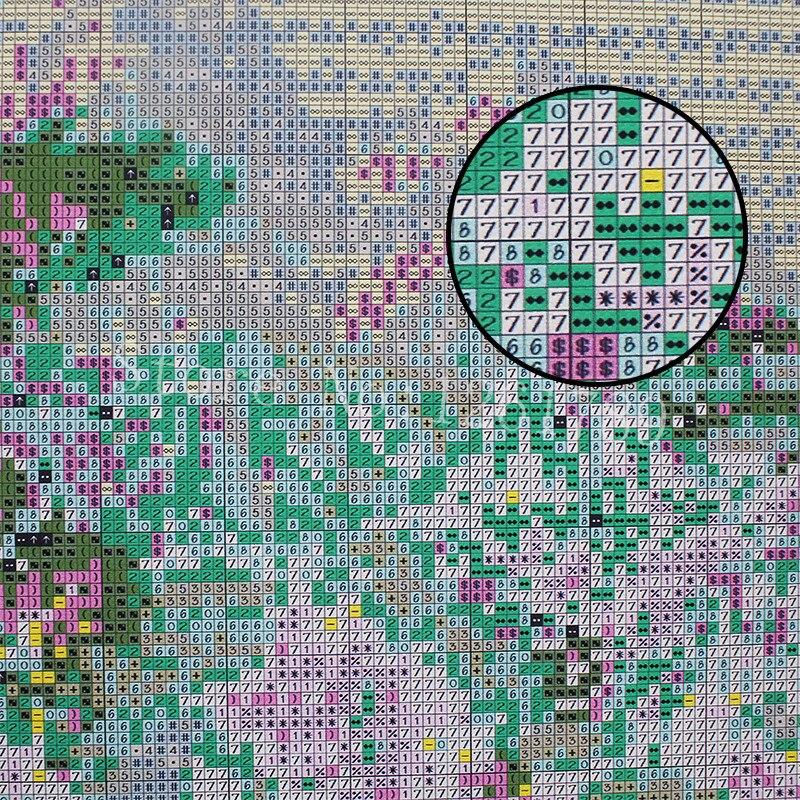DIY diamond painting cross stitch Needlework diamond River beach embroidery full square Crystal resin diamond mosaic 0115