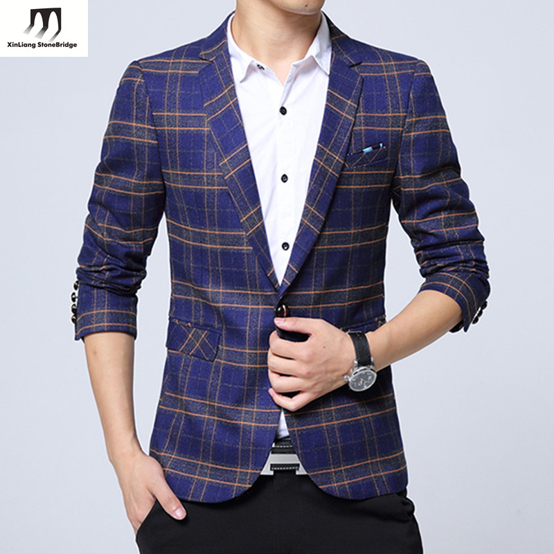 Popular Blazer Checked-Buy Cheap Blazer Checked lots from China ...