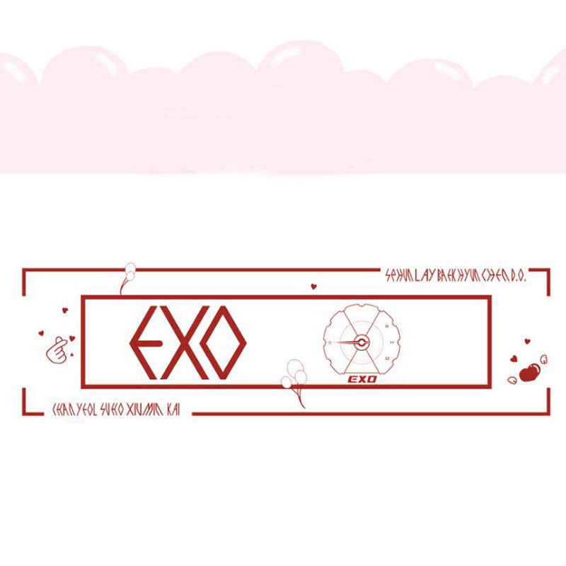 1 Pcs Fashion Kpop EXO Concert Airport Fabric Banner Hang up Sehun Baekhyun Chanyeol Hand Holder Stationery Fans Collection Gift