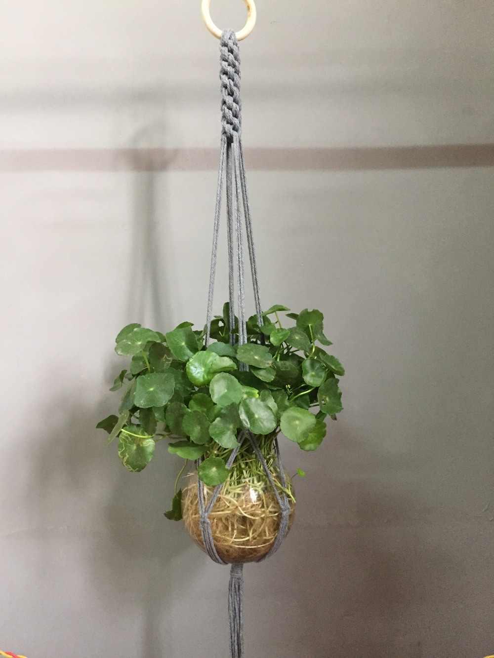 New arrival hanmade kolorowe makrama wieszak na rośliny wisząca doniczka beżowy zielony czerwony khaki ciemny