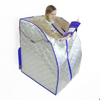 Infrared Sauna Spa Slimming Negative Ion Detox Therapy Personal Portable Far Fir Sauna Folding Chair Cabin Room Sauna Heater