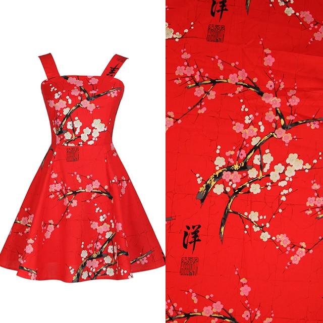 Plum blume gedruckt chinese stoffe 100% baumwollgewebe patchwork ...