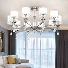 Crystal Chandelier Modern Lights Chrome Luxury for Living room bedroom 110v-220v Led Chandeliers Lighting  Led Hanging Lights modern luxurious chandeliers lighting led pendant lamps crystal chandelier hanging lights for living room hotel villa e14 220v