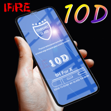 10D Full Cover Tempered Glass On The For iPhone X 7 8 6 Plus Screen Protector For iPhone XR XS Max 6s 7 Xs Protective Glass Film цены