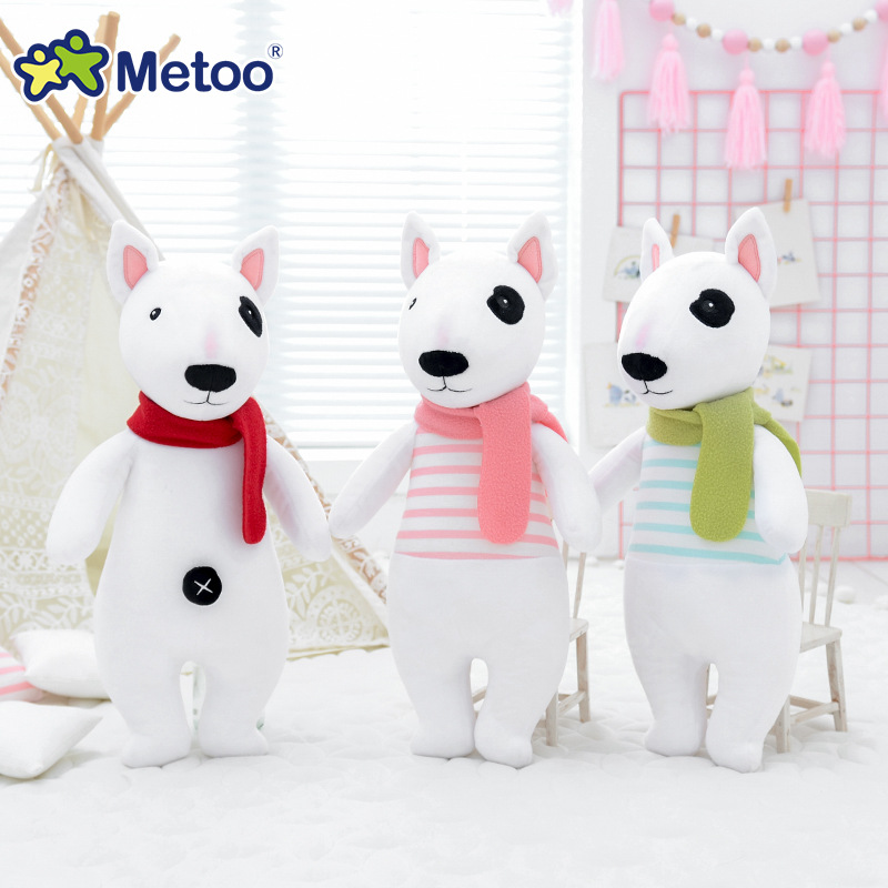 Metoo Doll Plush Toys For Girls Baby Cute Kawaii Dog Soft Cartoon Stuffed Animals For Kids Children Christmas Birthday Gift