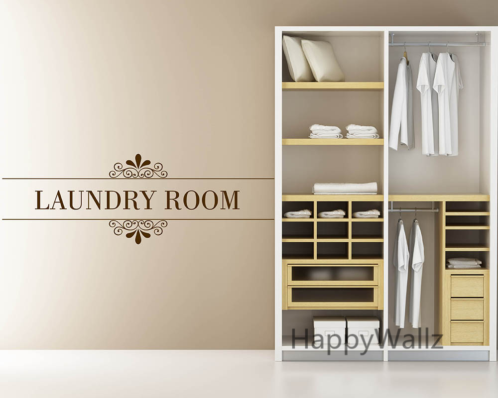 Laundry Room Quote Wall Sticker DIY Family Home Wall Quotes Vinyl Wall Art Decals Laundry Room Letterings Custom Colors Q57-in Wall Stickers from Home ... & Laundry Room Quote Wall Sticker DIY Family Home Wall Quotes Vinyl ...