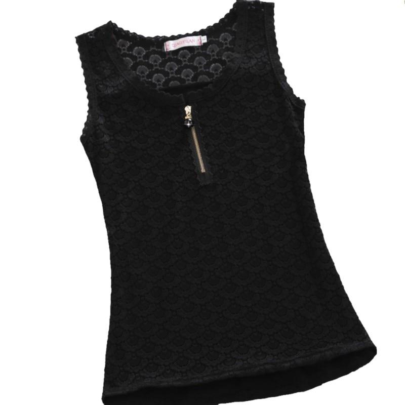 Verano chaleco femenino bottoming desgaste exterior de encaje blanco sin  mangas de la camiseta que basa la camisa delgada femenina d7986ffa1d0