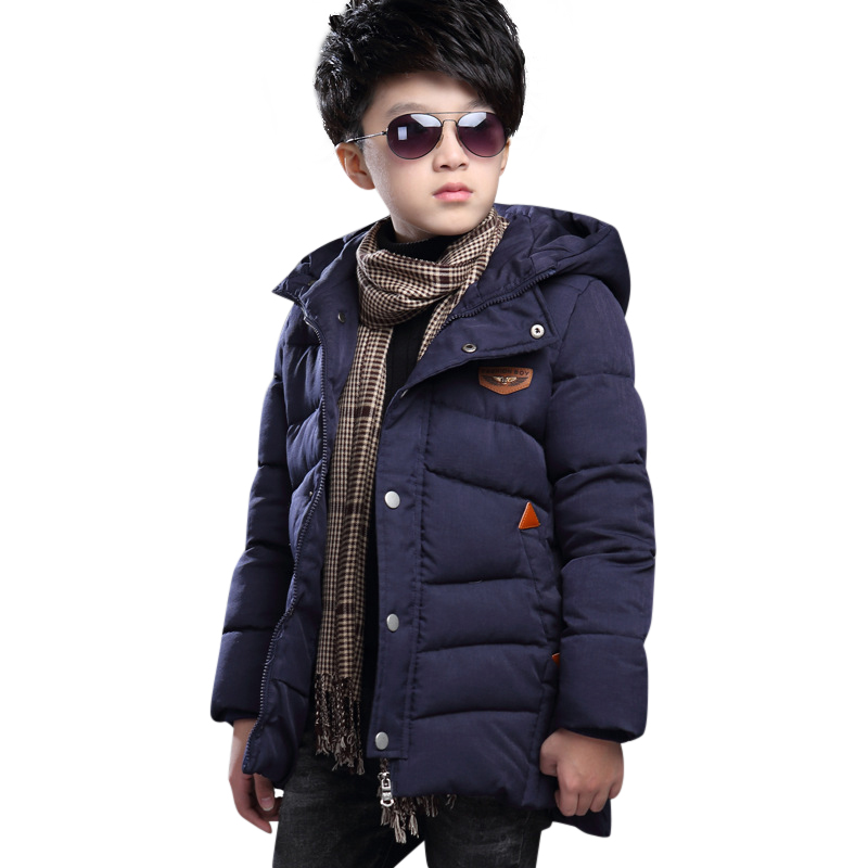 Winter 5-15T Children Warm 2018 Clothing Boy Cotton-padded Coats Teenage Boy Cotton Jacket Boy Casual Cotton Parkas with Hooded free shipping children clothes winter cotton padded jacket the boy more winter coats hooded cotton padded clothes boy outerwear