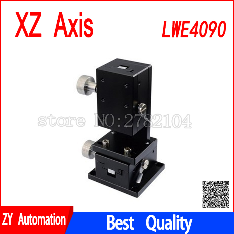 XZ axis LWE4090 dovetail groove guide type manual displacement platform gear drive knob adjusting slideXZ axis LWE4090 dovetail groove guide type manual displacement platform gear drive knob adjusting slide
