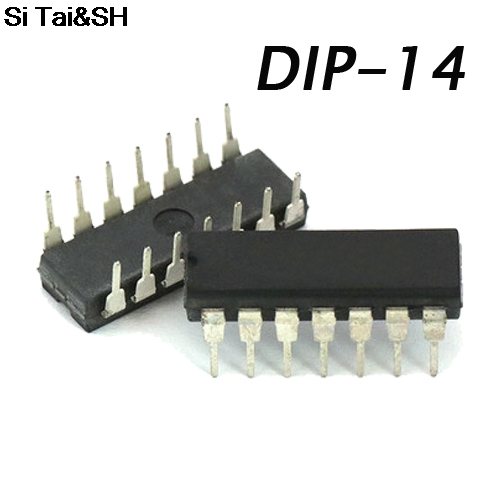 10pcs/lot <font><b>CD4066</b></font> CD4066BE DIP-14 CMOS QUAD BILATERAL SWITCH IC image