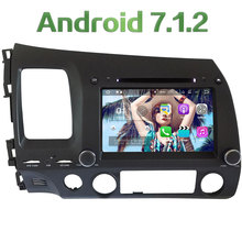 "4G WIFI 8"" Android 7.1.2 Quad Core 2GB RAM DAB+ Car DVD Multimedia Player Radio For Honda Civic 2006 2007 2008 2009 2010 2011"
