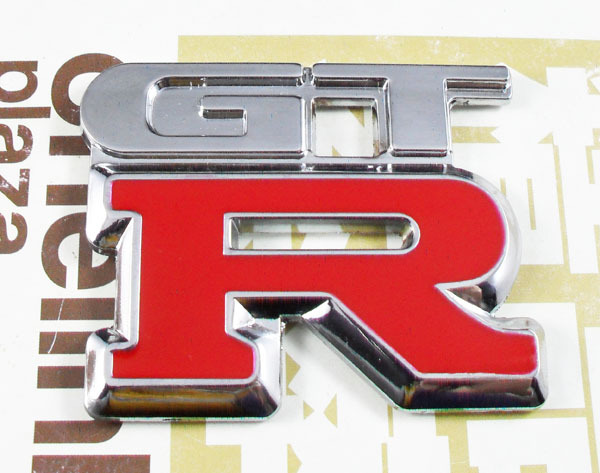 Red Chrome Metal GTR GT-R Skyline for R33 R34 G35 G37 Rear Emblem Badge Sticker сумка printio nissan skyline r34