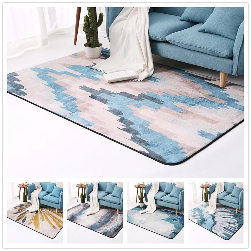 2019 nouveau Style européen salon tapis absorbant doux flanelle chambre tapis Aubusson géométrique tapis et tapis pour salon