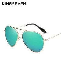 KINGSEVEN Mode Classique Dame Surdimensionné Pilote lunettes de Soleil Femmes 2017 New Brand Design Lunettes de Soleil Pour Hommes Grandes Lunettes N7009