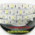 RGBW 10 MM 12 V/12 MM 24 V 5050 tira CONDUZIDA Luz À Prova D' Água IP20/65 SMD 60 Leds/M Flexível Luz Bar tiras RGB + Branco/WW luz 5 M