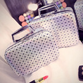 Women Lattice Bright Makeup Bag High Quality Professional Mirror Cosmetic Case Travel Storage Box Large Capacity Suitcase