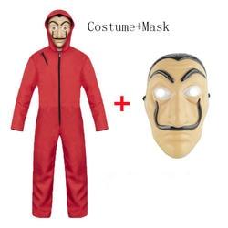 Салвадор дали Фильм Костюм деньги Heist дом бумаги La Casa De Papel косплэй Хэллоуин костюмы вечерние вечеринок с уход за кожей лица маска