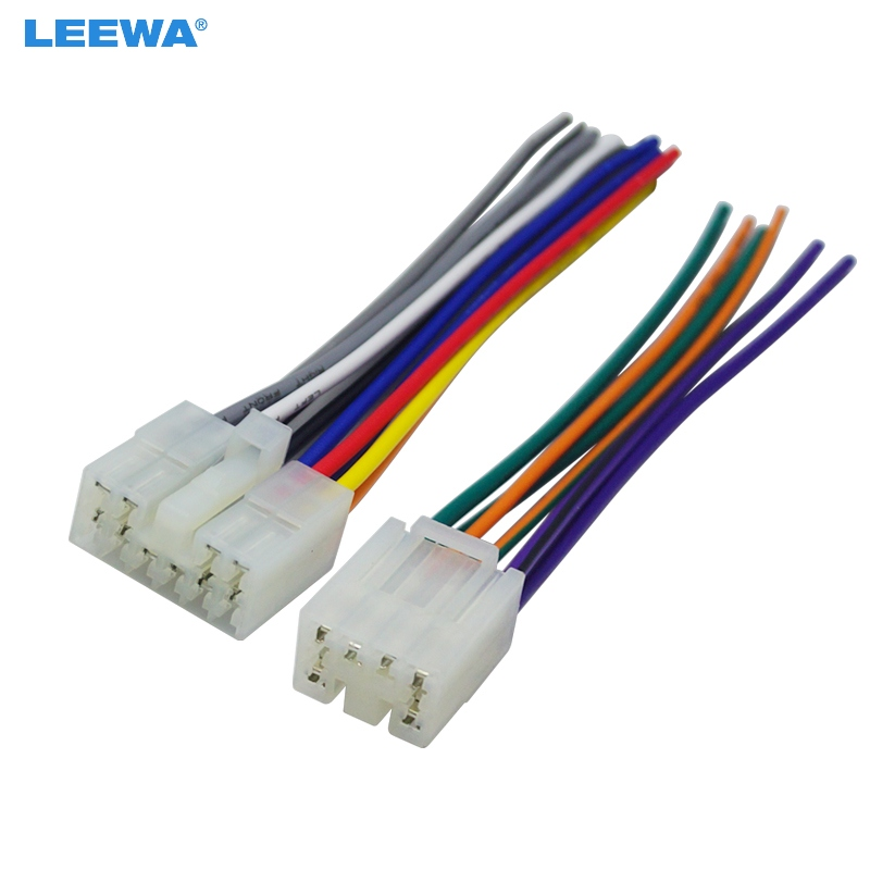 Leewa Car Audio Stereo Wiring Harness Adapter Plug For Toyotascion Factory Oem Radio Cd: Full Radio Wiring Harness At Gundyle.co