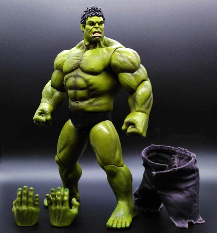SAINTGI 1pcs HULK Avengers2 II Captain America 3 Action Figures Super Hero Marvel PVC 26cm Model Gifts OPP BAG Anime Immovable high quality hulk figures the avengers super hero pvc model hulk action figures children kids best gift