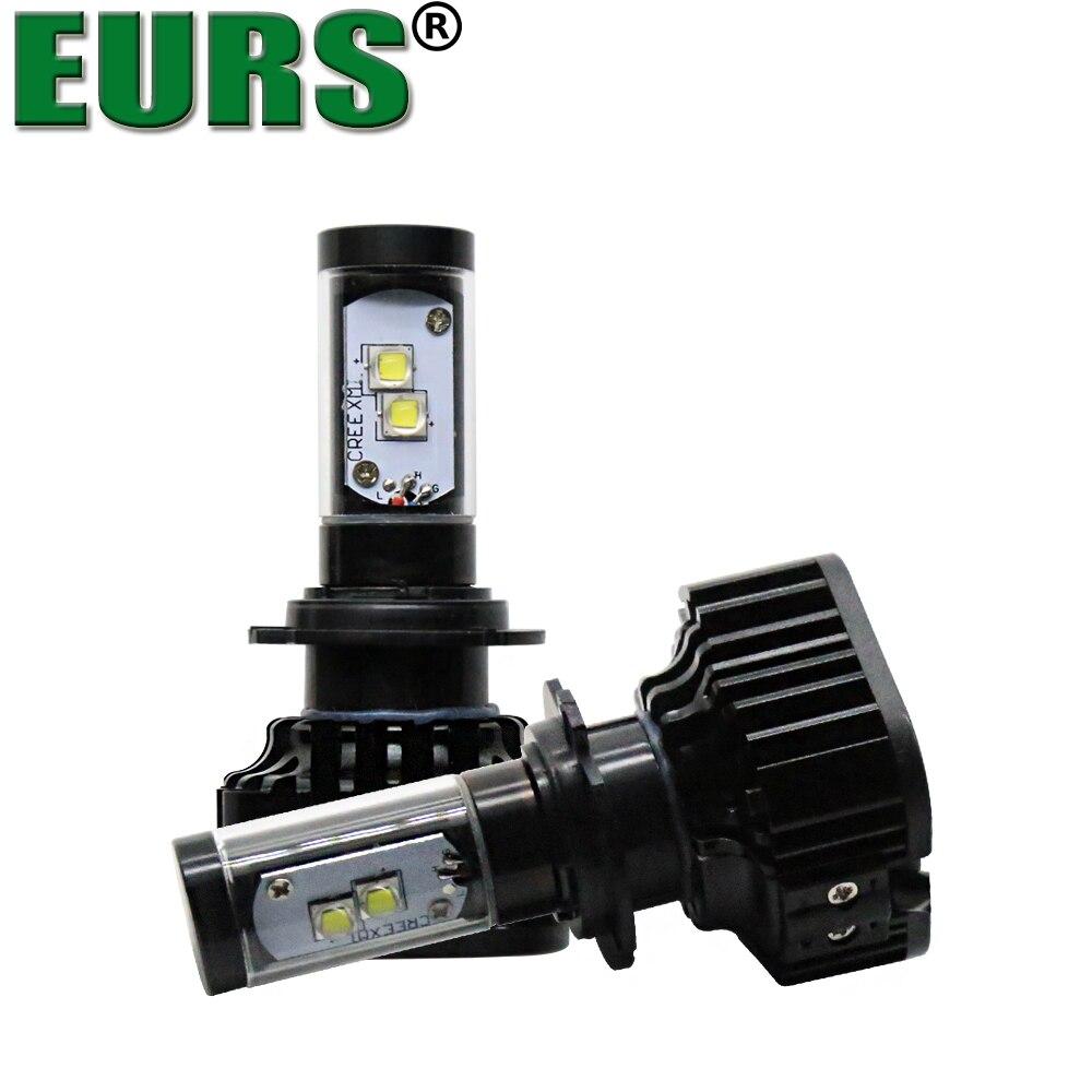 Eurs 10000lm 40 Вт автомобилей светодиодные фары комплект H4 H13 9007 Hi/lo H7 <font><b>H11</b></font> H1 9005 9006 Замена лампы 3000 К 4300 К 6000 К