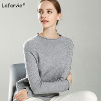 Lafarvie New Cashmere Blended Knitted Sweater Women Autumn Winter O Neck Pullover Female Soft Fashion Knitting