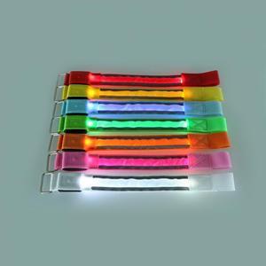 Image 3 - LED Reflective Light Arm Armband Strap Safety Belt For Night Running Cycling Hand Strap Wristband Wrist Bracelets #18