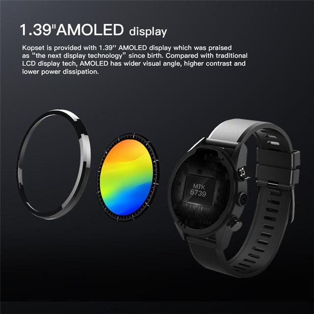 Smartwatch 3GB+32GB Dual 4G 1.39″ 8.0MP Sim IP67 Waterproof