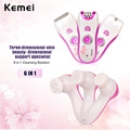 Kemei 6 in 1 Electric Women Shaver Epilator Depilador Beauty Care Tools Shaver Hair Removal Cleansing Instrument Massage 0