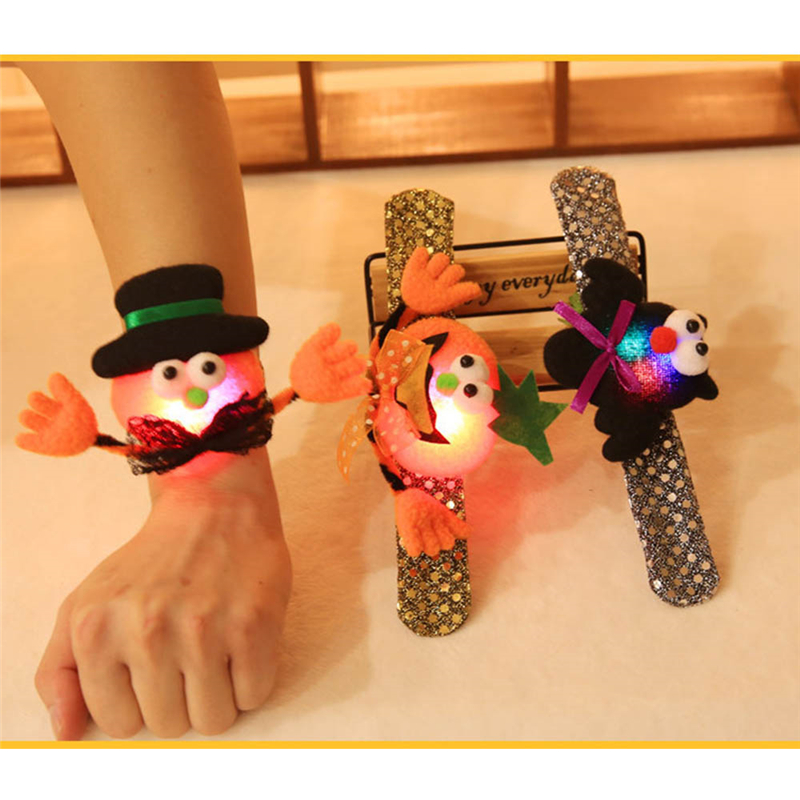 adults kids cosplay slap bracelet halloween decoration hand ring pumpkin bat hat pat circle party decor props p20