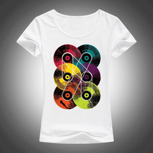 Multiple Vinyl Records women's shirt / girlie