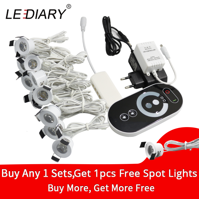 Lediary Spot Led Remote Control Dimmable Lights 12v Mini Ceiling Downlights Set Recessed 1 5w