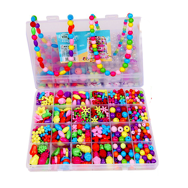 beb31f488 Kids Snap Beads Set Fashion Creative DIY Jewelry Making Kit for Girls  Necklace Bracelet Anklets Art Crafts building blocks toys