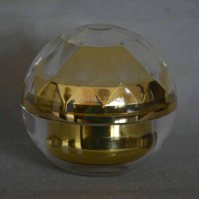 50g gold acrylic jar,cream jar, cosmetic container, plastic bottle, makeup sample jar 10pcs 5g cosmetic empty jar pot eyeshadow makeup face cream container bottle acrylic for creams skin care products makeup tool