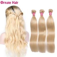Ornate Hair Malaysia Straight Hair 613 Honey Blonde Bundles 3/4 Bundles Remy Hair Weaving Human Hair Bundles 10 26 Inch